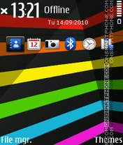Stripes colors theme screenshot