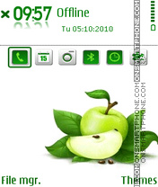 Apple green es el tema de pantalla