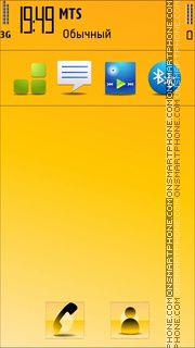 Goldy Nokia theme screenshot