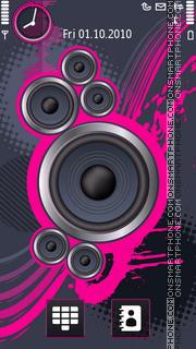 Скриншот темы Paints Of Music Pink