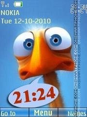 Скриншот темы Funny bird