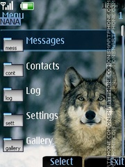 Wolf Clock theme screenshot