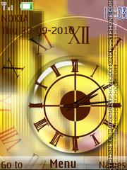 Скриншот темы Golden Clock 04