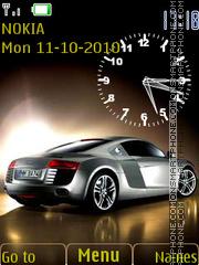 Скриншот темы Audi R8 Clock