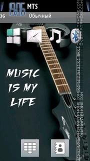 Music is my life 03 es el tema de pantalla