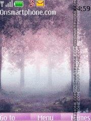 Misty pink tema screenshot