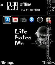 Capture d'écran Life hates me 01 thème