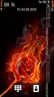 Скриншот темы Fire Rose