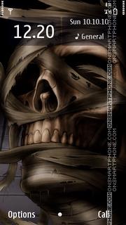The Mummy Skull Theme-Screenshot