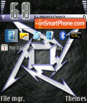 Metallica Logo theme screenshot