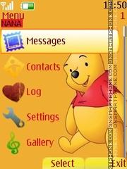 Winnie Clock theme screenshot