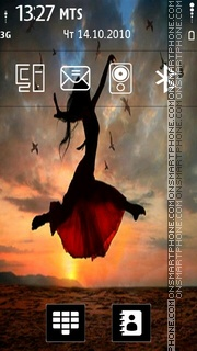 Flying Girl es el tema de pantalla