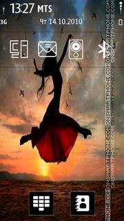 Flying Girl theme screenshot