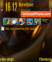Orange Crush tema screenshot