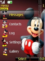 Mickey Ball Clock theme screenshot