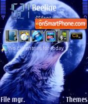 Wolf and Moon theme screenshot