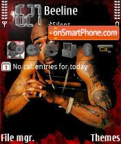 Скриншот темы Tupac Shakur