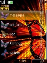 Скриншот темы Butterfly Clock