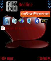 Red Heart theme screenshot
