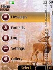Deer Clock theme screenshot