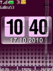Скриншот темы Flip clock fl2.0