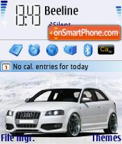 Audi S3 White theme screenshot