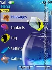 Fishes Clock es el tema de pantalla
