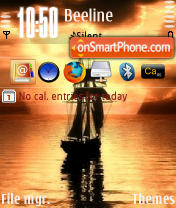 Sailing QVGA theme screenshot