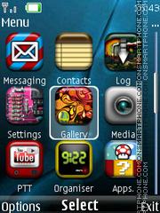 Nokia Blue Style theme screenshot