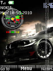 Nfs Speedometer theme screenshot
