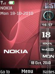 Nokia Red Waves theme screenshot