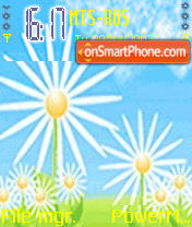 Animated Nice Flower theme screenshot
