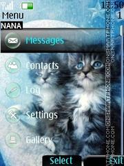 Cute Cat Clock es el tema de pantalla