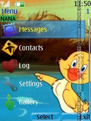 Cute Duck Clock theme screenshot