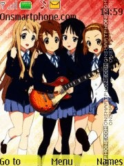 K-On 01 theme screenshot