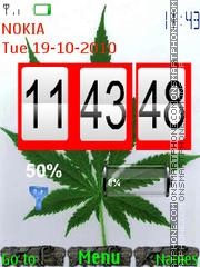 Cannabis Clock es el tema de pantalla