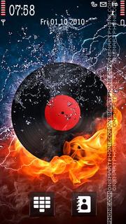 Скриншот темы Fire Vinyl