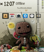 Capture d'écran Little big planet thème