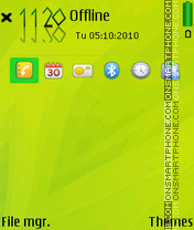 Green iumds theme screenshot