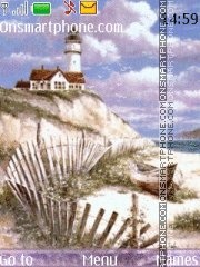 Lighthouse holiday theme screenshot