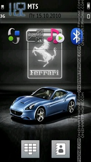 Blue Ferrari 01 theme screenshot