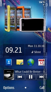 Nokia N8 All Blue theme screenshot