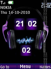 Music flip theme screenshot