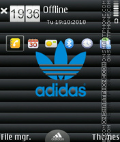 Just adidas theme screenshot