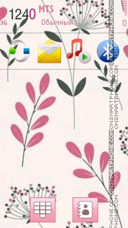 Pink Floral 02 Theme-Screenshot