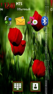 Red Flower 04 theme screenshot