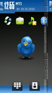 Twitter Bird theme screenshot