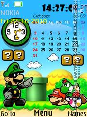 Скриншот темы Mario Paper
