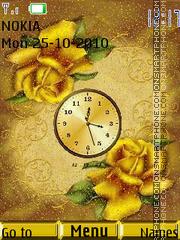Roses and Clock theme screenshot