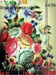 Zhostovskaya rospis theme screenshot